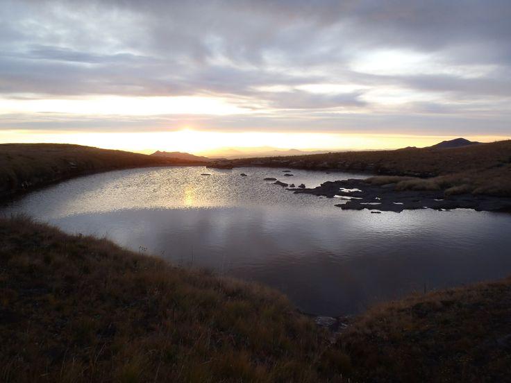 Sunset Drakensberg Mountains