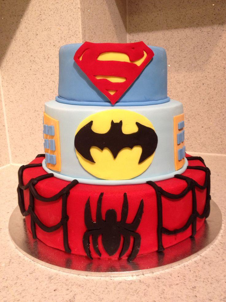 Superhero birthday cake made with love for my nephews 1st birthday