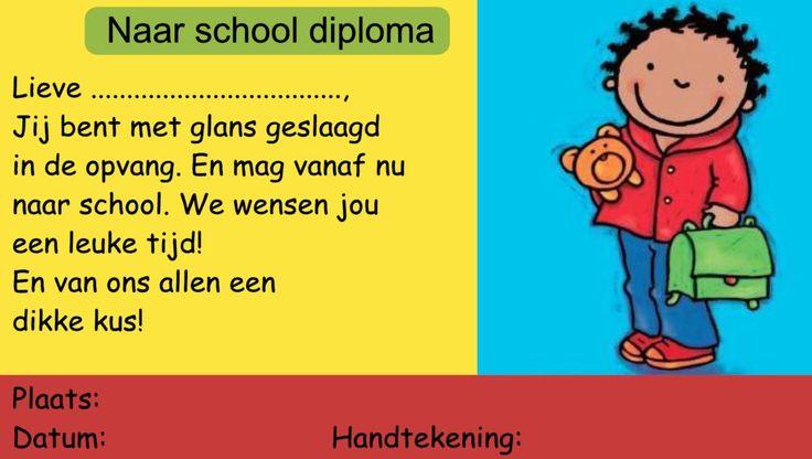 Diploma naar school - jongen