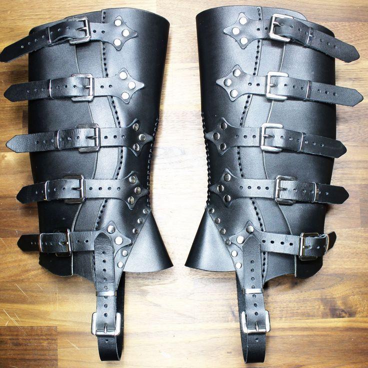 Steampunk black gaiters