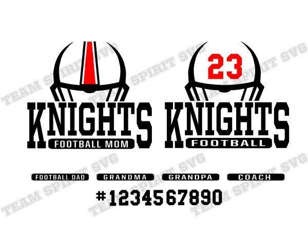 Cricut svg Knight SVG Cut File Football SVG Silhouette svg Knight Football SVG