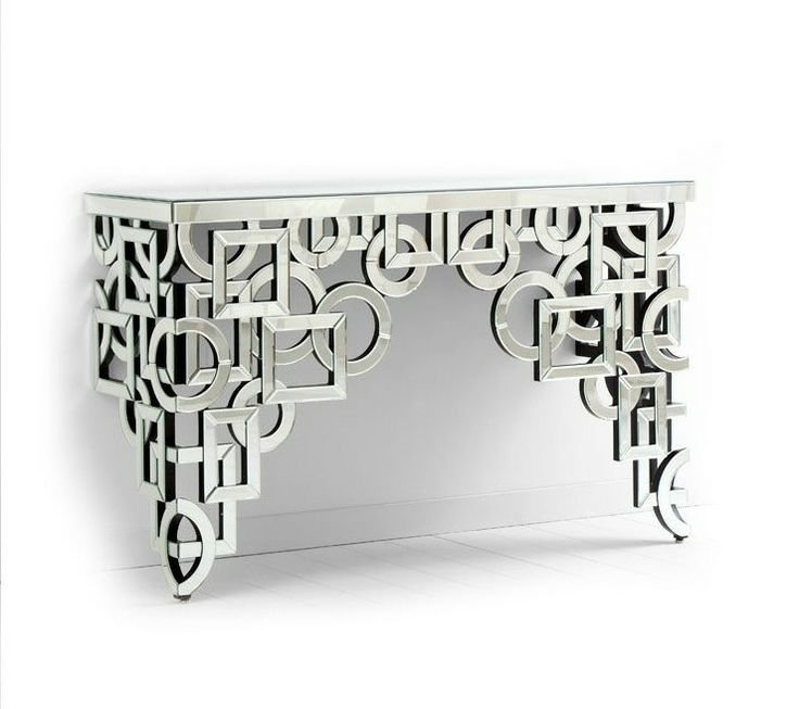 Mirror Glass Console at Instyle Decor www.bullesconcept.com