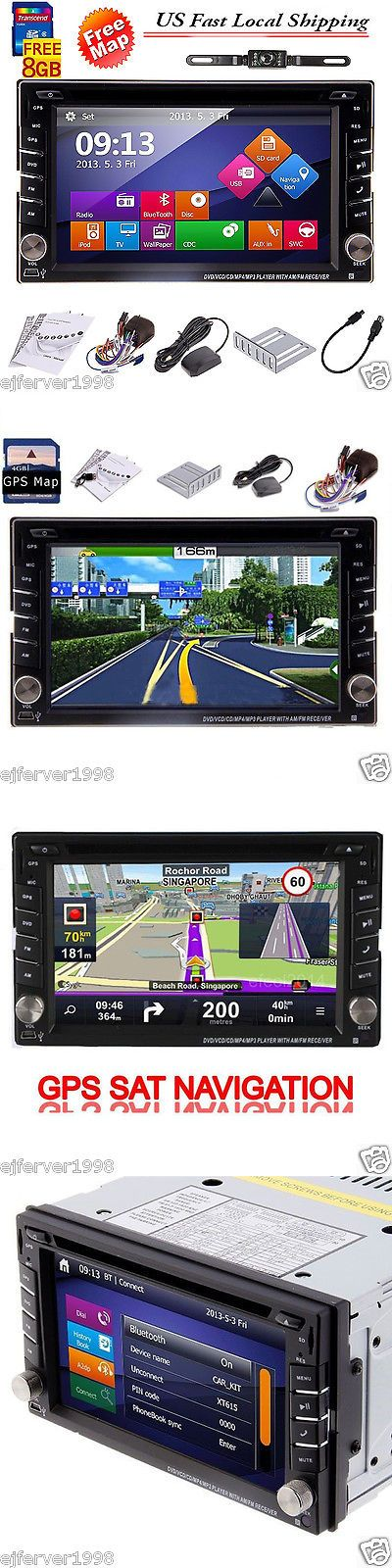 Vehicle Electronics And GPS: 6.2Gps Navigation Map Double 2 Din Car Stereo Dvd Player Bluetooth Ipod Mp3 Tv BUY IT NOW ONLY: $124.99