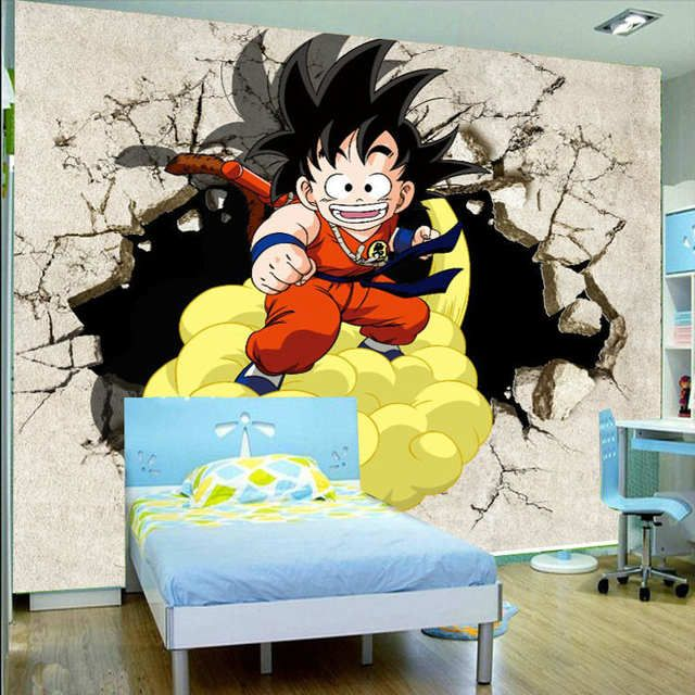 3d Anime Japones Dragon Ball Foto Wallpaper Nino Dormitorio Fondo De Pantalla Personalizado Paredes Pintadas Decoracion De Habitaciones Decoracion Cuarto Nino