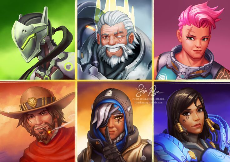 Overwatch Portraits Part 2 by Risachantag