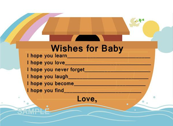 Baby Shower Banners noahs ark | Noah's Ark wishes for baby cards for baby by jjtrebble on Etsy