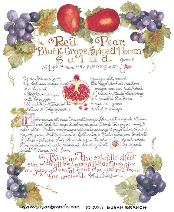 Pear, Black Grapes, and Pecan Salad