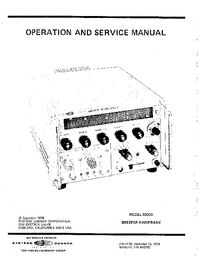 Systron Donner -- 5000A -- Service and User Manual