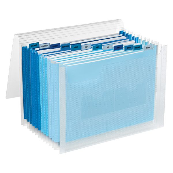 Blue 13 Pocket Accordion Letter File. Organization StoreOrganization ...