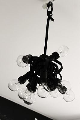 Lamp in bedroom.