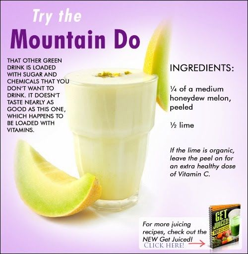 Instead of the other green drink that is loaded with sugar and chemicals, try this blend that is packed with vitamins and tastes just as good! For more recipes just like this one click on the image and then follow the link on the next page!