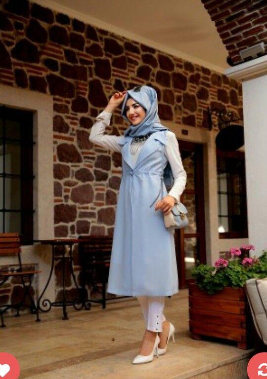 Gamze Polat Vest Blue Price 40 Dolars Whatsapp 05533302701 #modaufku…
