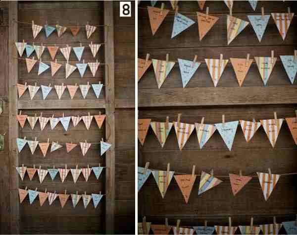 Bunting table plan, could use concept or something else besides a table plan