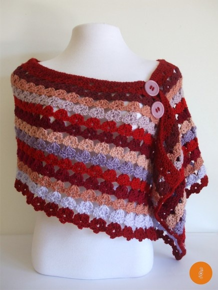 Inspiration :: shoulder wrap (no pattern)  #crochet