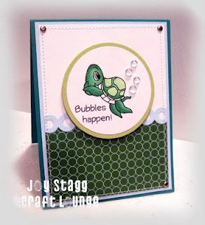 Made by Joy Stagg using OCL stamp set, Bubbles