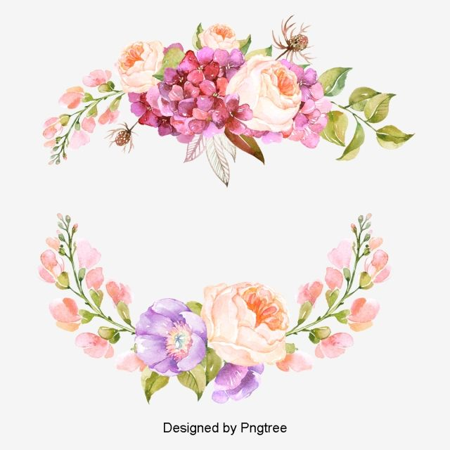 Millions Of Png Images Backgrounds And Vectors For Free Download Pngtree Flower Border Floral Border Design Flower Art