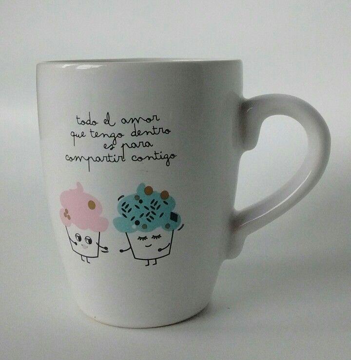 Taza de ceramica  para llenar con mucho amor !