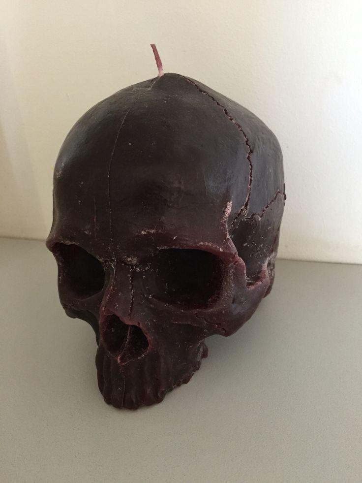 Human-sized Skull Candle. Available at: info@blackflameodditorium.co.za