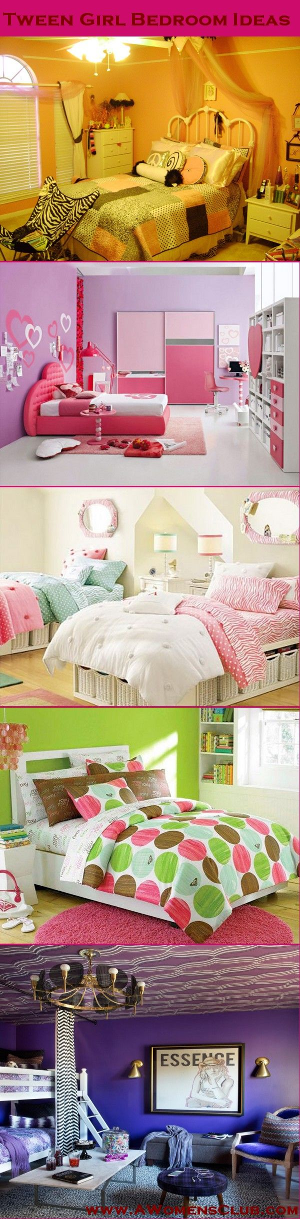 Create a bedroom for a tween girl that 39 s equal parts for Cool bedroom ideas for tweens