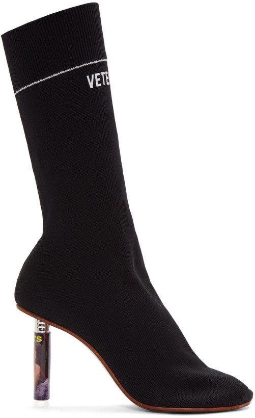 Vetements Black Lighter Heel Sock Boots Boots In 2018