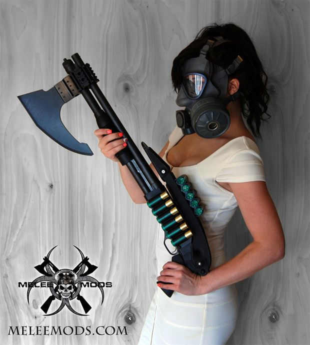 Tactical Firearm Axes Zombie Heads When You Run out of Bullets