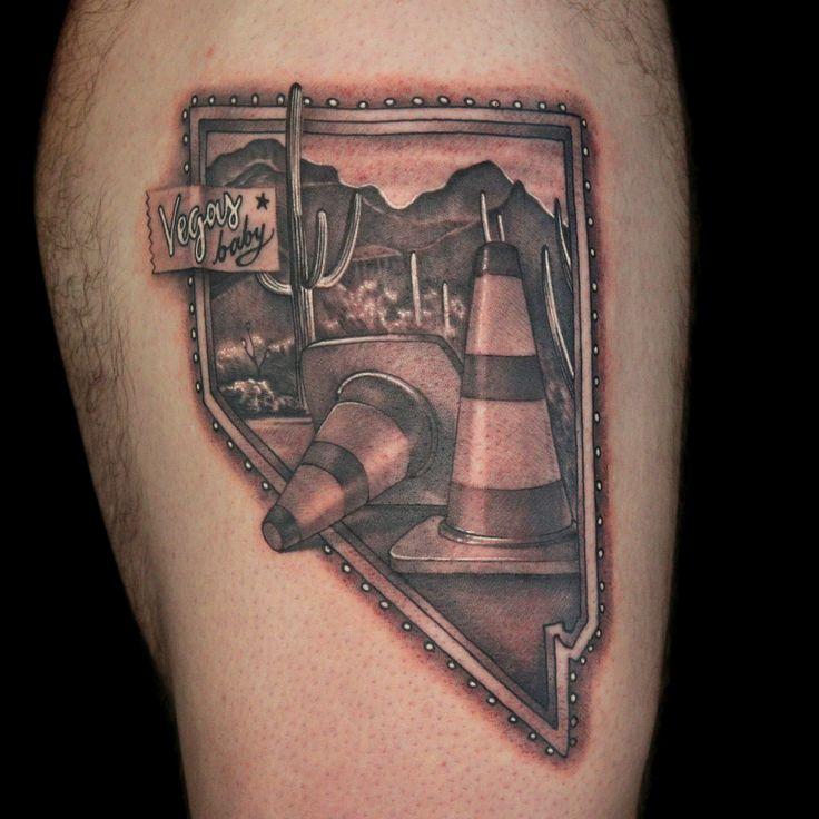 Nevada Tattoo by Hiram Casas State tattoos, Tattoos, Ink
