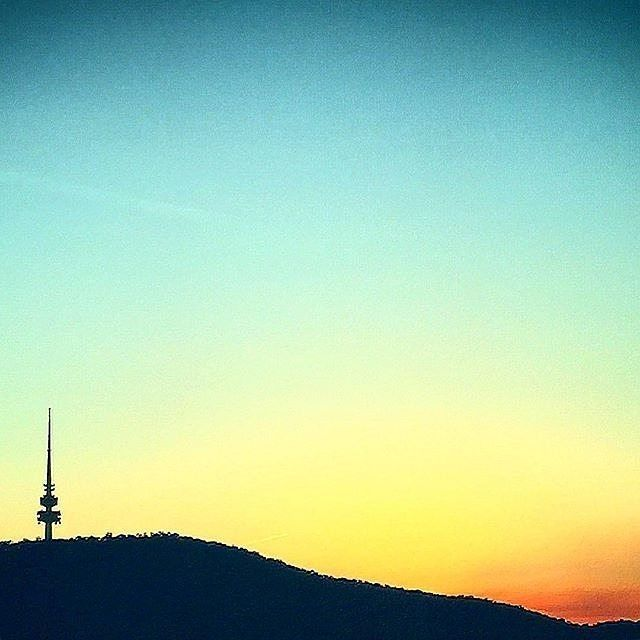 What a weekend! Thanks to Instagrammer @lrlc82 for sharing this colourful Canberra image of the silhouette of Telstra Tower at sunset. #visitcanberra #onegoodthingafteranother