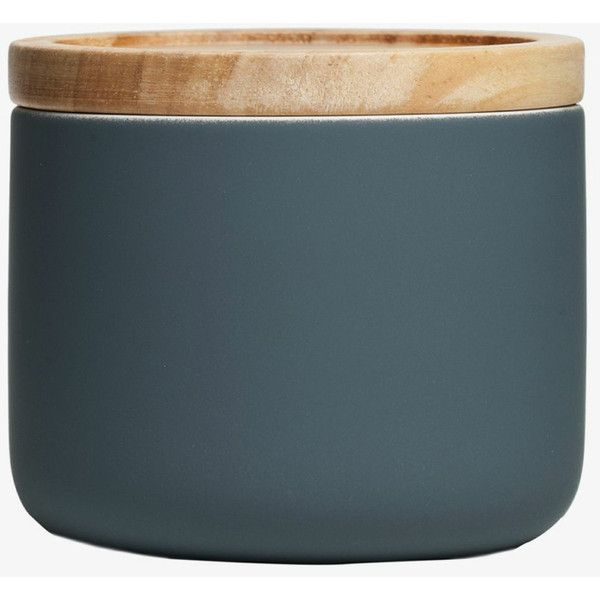 General Eclectic Small Canister - Matt Grey (12 CAD) ❤ liked on Polyvore featuring home, kitchen & dining, food storage containers, ceramic food storage containers, ceramic canisters and storage canisters