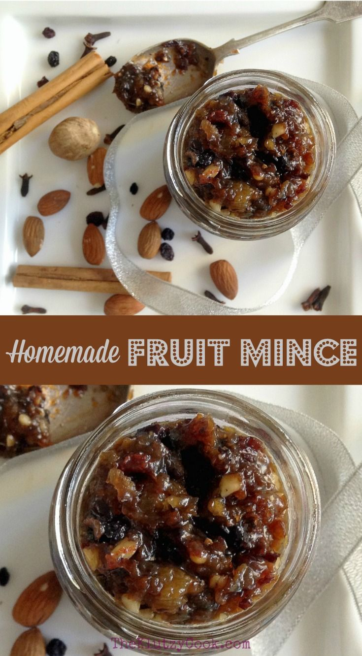 Homemade fruit mince recipe christmas cooking food