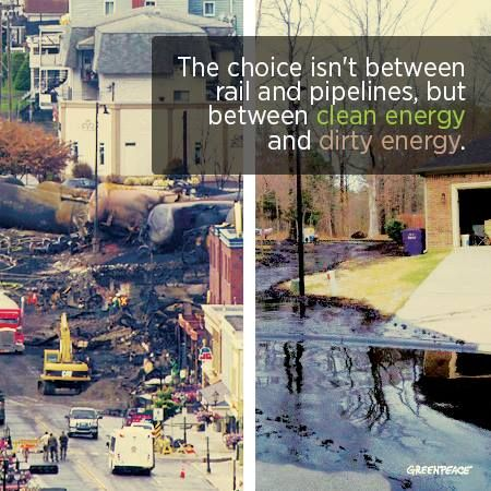 Greenpeace Canada is calling for action following the Lac-Mégantic disaster.