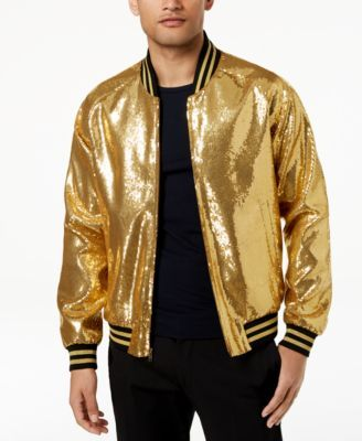 09972fd979aa Tallia Orange Men's Slim-Fit Gold Sequin Bomber Jacket $99.99 Give your  luxe cool-weather look a stylish glow with the gleaming gold sequins of  this ...
