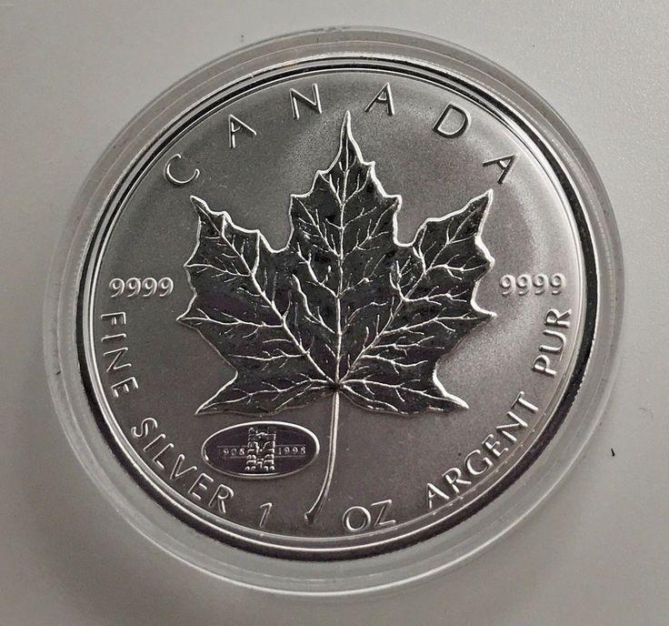 Canada 1998 1 oz Silver Maple Leaf 90th Anniversary Privy