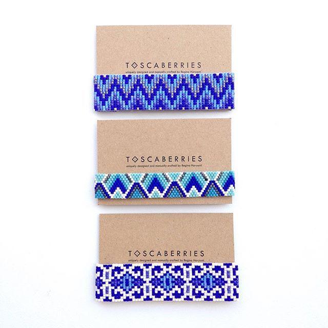 meet the blue family #beadworks#beadweave#kalungetnik#handmadebracelet#localbrandindonesia##localbrandif#handmadeindonesia#accessoriesindo#gelangetnik#madeinindonesia#armcandy#jualgelang#tenun#etnik#weaving#gelang#toscaberries#toscaproject