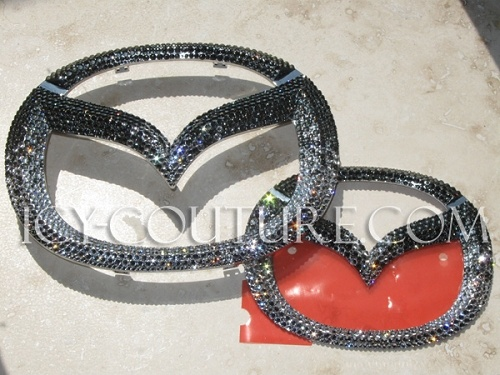 Bling-Bling! :) Swarovski Crystal MAZDA emblems! Whats your color?