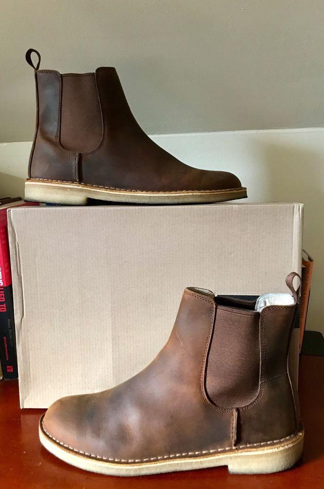 4668abf39b2 Clarks Desert Peak Chelsea Boots Size 11.5 BEESWAX #fashion ...