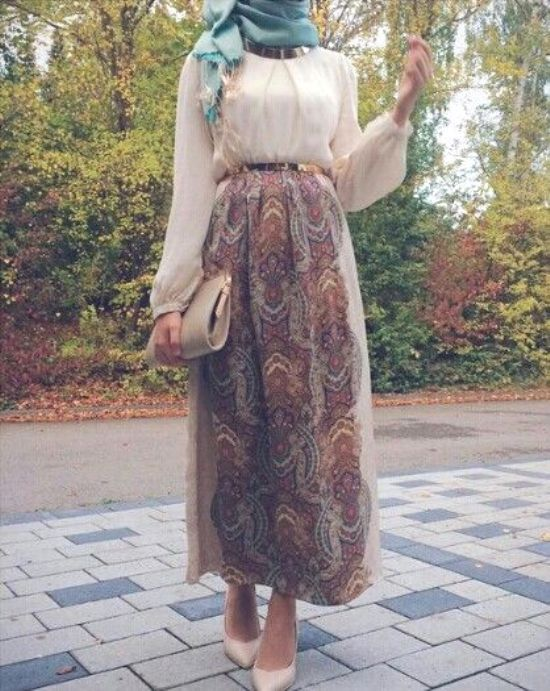 chiffon maxi skirt hijab look- Eid hijab ready to wear…