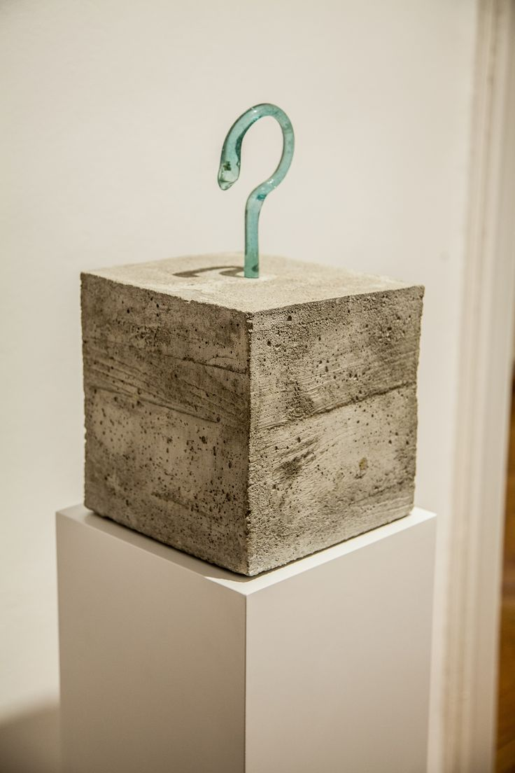 Radu CIoca - Attache (2005) Concrete/ Glass 39 x 22 x 22 cm