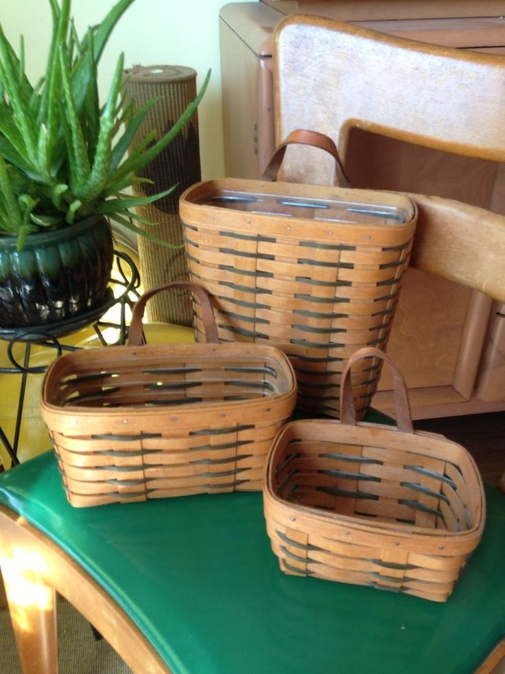 Longaberger key basket set of 3 1994 ebay Longaberger baskets for sale