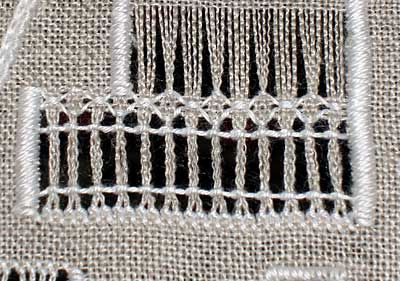 Tutorial: Coral Knot used in Drawn Thread Embroidery -- idea for sleeves of dirndl.