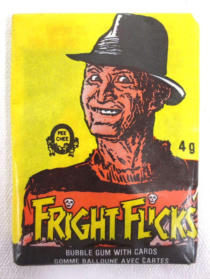 Vintage 1984 Freddy Krueger Unopened Bubble Gum & Cards, O-Pee-Chee Fright Flick