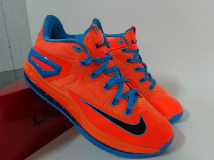 e358f3135f8 Cheap New Style Nike Lebron 11 Zoom Orange Silver
