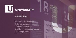 University – is a flexible flat UI PSD template for educational organizations. It will perfectly suit the needs of any modern university, college, school or other educational business. The template consists of well-organized components that are easy to modify. You are free to create as many unique layout structures as you wish. That's why current PSD template can be used on a variety of websites, no matter their main type and primary audience.