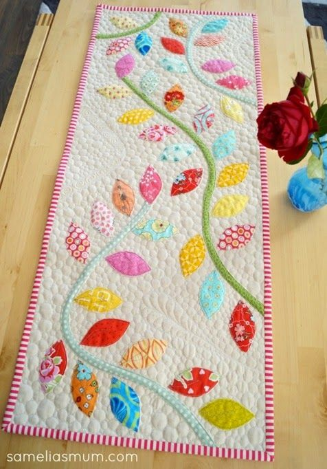 415 best table, runners images on Pinterest | Table runners ... : quilted table runner tutorial - Adamdwight.com
