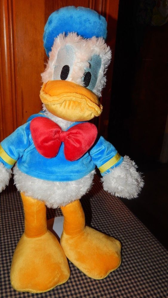 "1bdd802e6ac Disneyland Walt Disney Donald Duck Plush 17"" Authentic Disney Soft Stuffed  Toy  Disney"