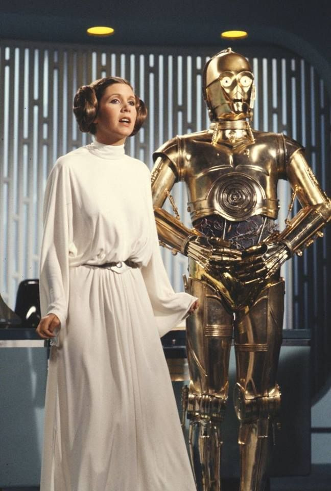 Carrie Fisher and Anthony Daniels. Princess Leia and C3PO in The Star Wars Holiday Special.