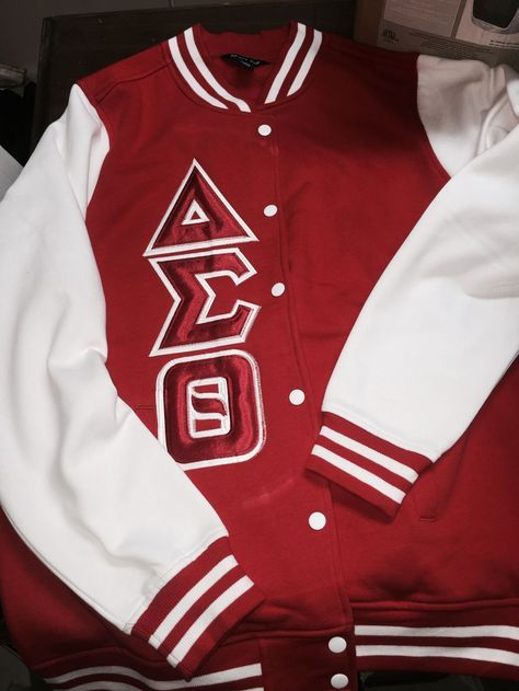 The product Delta Sigma Theta Red & White Letterman Jacket is sold by GreekExpressions D9 Embroidery Specialis… in our Tictail store. Tictail lets you create a beautiful online store for free - tictail.com