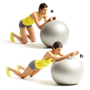 15-minute physioball workout to help flatten your belly