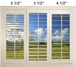 Shutters | Sunkist Shutters Blinds Shades | Shutters in Riverside, Orange County, Palm Springs, Omaha Example of how louver width sizes can impact your view.  www.sunkistshutters.com