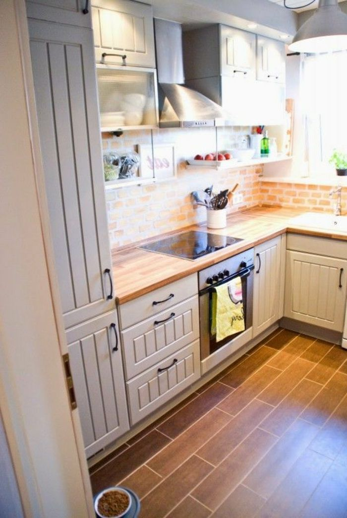 17 meilleures id es propos de cuisine avec sol en carrelage sur pinterest - Comment amenager sa cuisine ouverte ...