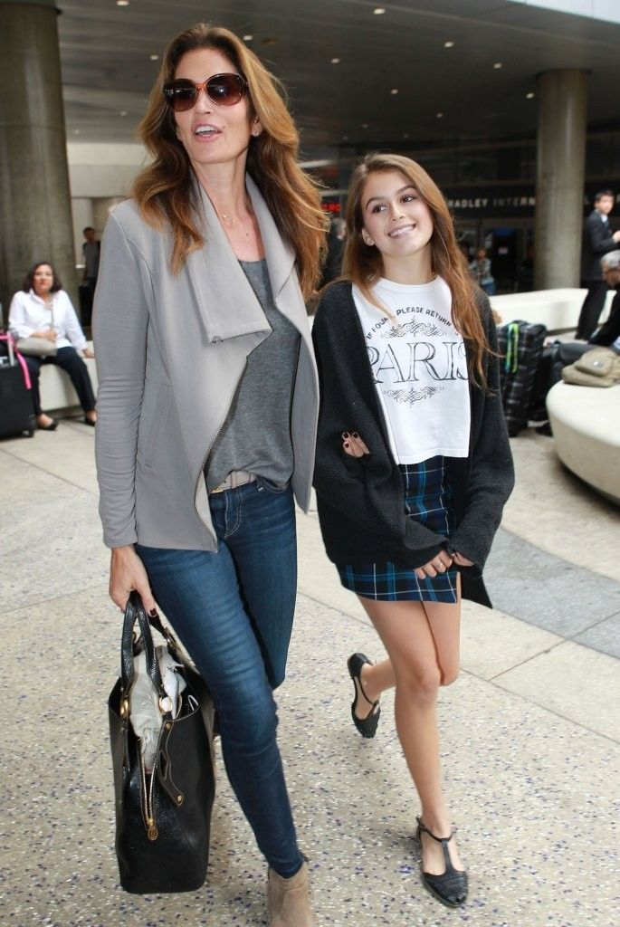 Cindy Crawford Photos: Cindy Crawford & Daughter Kaia Arriving On A Flight At LAX